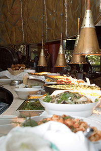 Some of the food at Thanksgiving 2005 at Café Pariz�de.